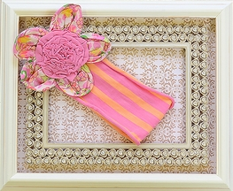 Mimi and Maggie  Girls Pink Headband with Flower