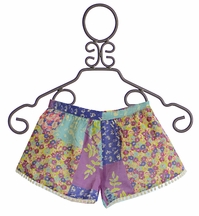 Mimi and Maggie Girls Pom Pom Shorts (Size  LG/14)