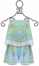 Mimi and Maggie Girls Romper in Boho Print (4,6,6X,MD10)