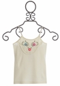 Mimi and Maggie Girls Tank Top with Floral Embellishments