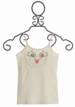Mimi and Maggie Girls Tank Top with Floral Embellishments (SIZE LG 14)