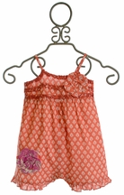 Mimi and Maggie Infant Romper Island Orange