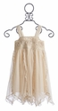 Mimi and Maggie Ivory Twirling Flowers Dress