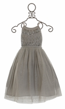 Mimi and Maggie Little Girls Ballet Dress Silver Frost (4T,5,MD 10)