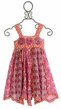 Mimi and Maggie Little Girls Dress in Coral