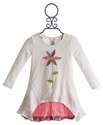Mimi and Maggie Little Girls Dress with Flower Applique
