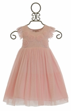 Mimi and Maggie Little Girls Pink Tulle Party Dress
