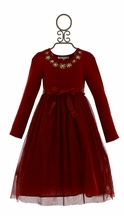 Mimi and Maggie Red Tulle Holiday Dress (2T,3T,4T,4,5)
