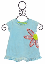 Mimi and Maggie Romper for Baby Girl with Flower (6-9Mos & 12Mos)