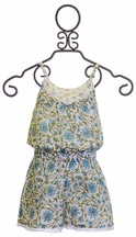 Mimi and Maggie Romper for Girls with Daisy Print (Size SM7/8)