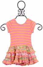 Mimi and Maggie Striped Dress for Girls with Ruffles