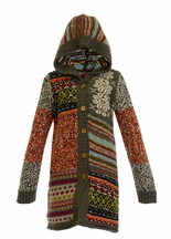 Mimi and Maggie Tween Boho Sweater with Hood (Size SM 7/8)
