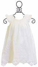 Mimi and Maggie Vintage Baby Dress in White (6-9Mos,12Mos,18Mos,24Mos)