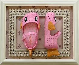 Mini Melissa Furadinha Shoes in Pink