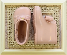 Mini Melissa Girls Boots with Bow in Blush (5,6,8,9)