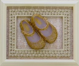 Mini Melissa Girls Campana Gold Glitter Shoes