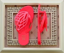 Mini Melissa Girls Flip Flops in Pink