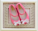 Mini Melissa Pink Flats for Girls with Bow