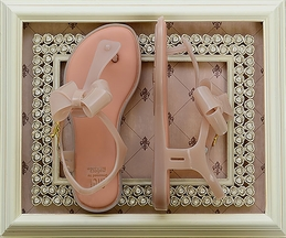 Mini Melissa Sandals with Bow in Blush