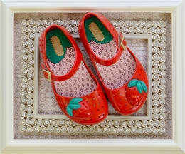 Mini Melissa Strawberry Red Little Girls Shoes (Size 5)