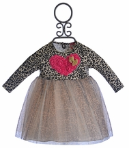 Mini Mini Baby Girl Leopard Print Tutu Dress (3Mos & 18Mos)