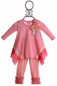 Mini Mini Baby Tunic Set in Pink Designer Stripe
