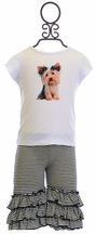 Mini Mini Dog T-Shirt with Capris for Girls (3Mos,6Mos,12Mos,3T)