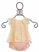 Mini Mini Infant Tunic and Bloomer Set in Blush (3Mos,12Mos,24Mos)