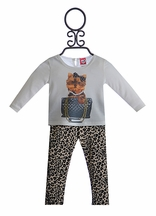 Mini Mini Infant Tunic and Legging Set Puppy Love (Size 24Mos)