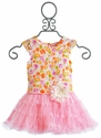 Mini Mini Little Girls Bailey Floral Lace Tutu Dress
