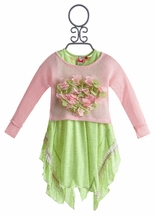 Mini Mini Little Girls Dress Pink Symphony (12 Mos & 2T)