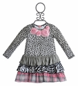 Mini Mini Little Girls Leopard Ruffle Dress