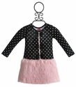 Mini Mini Little Girls Polka Dot Dress