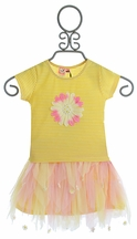 Mini Mini Little Girls Skirt Set Yellow Daisy