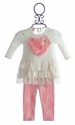 Mini Mini Ruffle Lace Tunic and Leggings for Infants