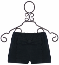 Mini Molly Boutique Shorts for Girls with Bow in Black (4/6,8/10,12/14)