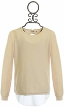 Mini Molly Girls Designer Sweater in Ivory