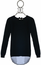 Mini Molly Soft Sweater for Girls in Black (4/6,6/8,8/10,12/14)