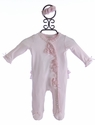 Miniclasix Baby Footie and Headband Soft Pink Rosette
