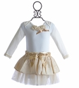Miniclasix Fancy Ivory Infant Tutu Outfit