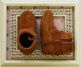 Minnetonka Girls Double Fringe Bootie
