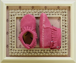 Minnetonka Infant Bootie Hot Pink Suede
