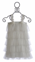 Mischka Aoki Magical Tulle Little Girls White Party Dress