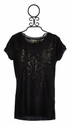 Miss Me Black Washed Knit Tee for Tweens (SM 7/8 & MD 10)