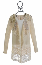 Miss Me Cardigan Ivory Lace for Girls