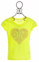 Miss Me Couture Girls Top in Yellow with M Heart Emblem (SM 7/8 & LG 12)