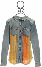 Miss Me Denim Top Tweens with Fringe (MD10 & LG10/12)