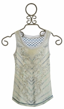 Miss Me Designer Tank Top in Grey (Size MD 10)