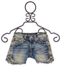 Miss Me Distressed Denim Shorts for Girls (10,12,14)