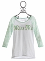 Miss Me Girls Baseball Style Top (Size MD 10)